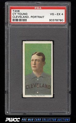 190911 T206 Cy Young CLEVELAND PORTRAIT PSA 4 VGEX PWCC