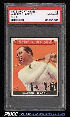 1933 Goudey Sport Kings SETBREAK Walter Hagen GOLF 8 PSA 8 NMMT PWCC