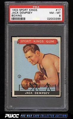 1933 Goudey Sport Kings SETBREAK Jack Dempsey BOXING 17 PSA 8 NMMT PWCC