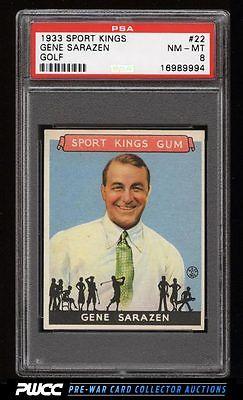 1933 Goudey Sport Kings SETBREAK Gene Sarazen GOLF 22 PSA 8 NMMT PWCC