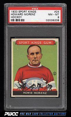 1933 Goudey Sport Kings SETBREAK Howie Morenz HOCKEY 24 PSA 8 NMMT PWCC