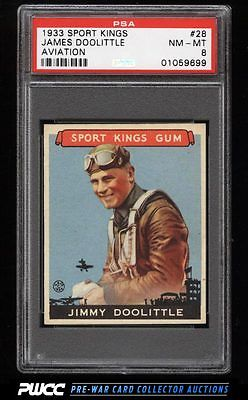 1933 Goudey Sport Kings SETBREAK James Doolittle AVIATION 28 PSA 8 NMMT PWCC