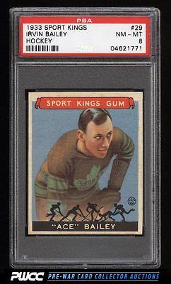 1933 Goudey Sport Kings SETBREAK Irvin Ace Bailey HOCKEY 29 PSA 8 NMMT PWCC