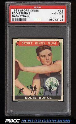 1933 Goudey Sport Kings SETBREAK Eddie Burke BASKETBALL 33 PSA 8 NMMT PWCC