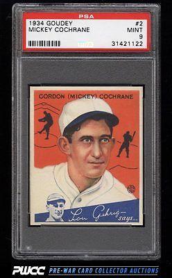 1934 Goudey SETBREAK Mickey Cochrane 2 PSA 9 MINT PWCC
