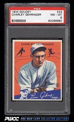 1934 Goudey SETBREAK Charley Gehringer 23 PSA 8 NMMT PWCC