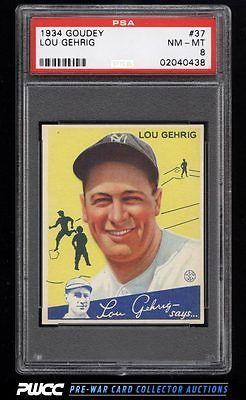 1934 Goudey SETBREAK Lou Gehrig 37 PSA 8 NMMT PWCC
