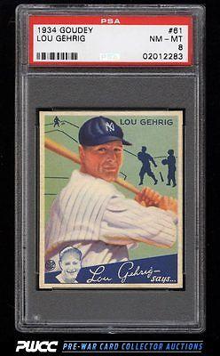 1934 Goudey SETBREAK Lou Gehrig 61 PSA 8 NMMT PWCC