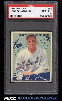 1934 Goudey SETBREAK Hank Greenberg 62 PSA 8 NMMT PWCC