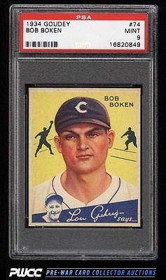 1934 Goudey SETBREAK Bob Boken 74 PSA 9 MINT PWCC