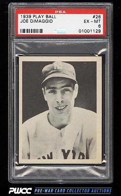 1939 Play Ball Joe DiMaggio 26 PSA 6 EXMT PWCC