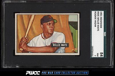 1951 Bowman Willie Mays ROOKIE RC 305 SGC 784 NRMT PWCC