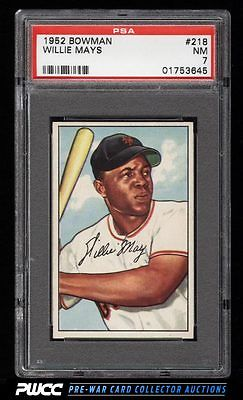1952 Bowman Willie Mays 218 PSA 7 NRMT PWCC