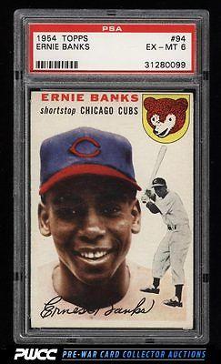 1954 Topps Ernie Banks ROOKIE RC 94 PSA 6 EXMT PWCC
