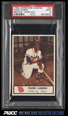 1955 Johnston Cookies Braves Hank Aaron 44 PSA 9 MINT PWCC