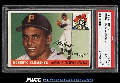 1955 Topps Roberto Clemente ROOKIE RC 164 PSA 6 EXMT PWCC