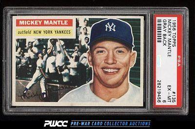 1956 Topps Mickey Mantle 135 PSA 6 EXMT PWCC