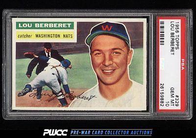 1956 Topps Lou Berberet 329 PSA 10 GEM MINT PWCC
