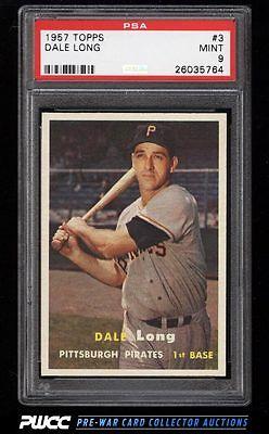 1957 Topps Dale Long 3 PSA 9 MINT PWCC