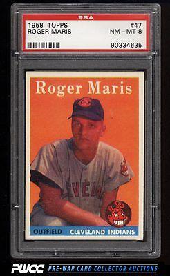 1958 Topps Roger Maris ROOKIE RC 47 PSA 8 NMMT PWCC