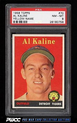 1958 Topps Al Kaline YELLOW NAME 70 PSA 8 NMMT PWCC