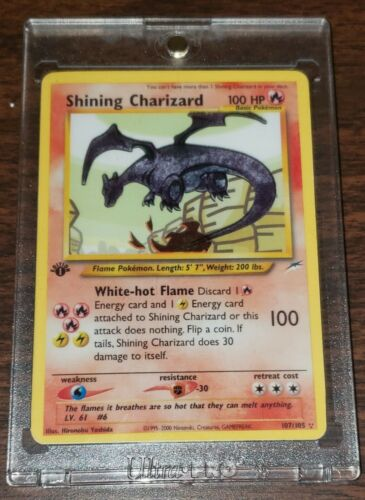 Shining Charizard 1st Edition  107105  Holo Proxy  Pokemon Card  MINT