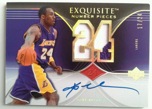 0607 Exquisite Number Pieces Kobe Bryant Prime Patch Autograph Auto Card 1724