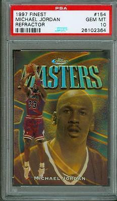 1997 Finest Gold Refractor 289 Michael Jordan 154 PSA 10 LOW POP Bulls HOF
