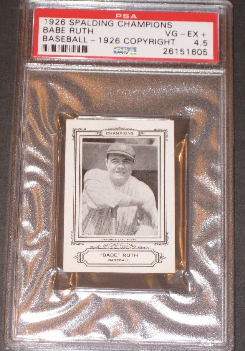 1926 Spalding BABE RUTH Baseball Card PSA 45 VGEX W 10Cent Coupon Yankees