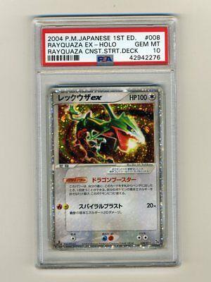 Pokemon PSA 10 GEM MINT Rayquaza EX 1st Edition Japanese Deoxys Deck Card 008