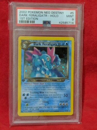 Dark Feraligatr 1st Edition 5105 Holographic Pokemon Card PSA 9
