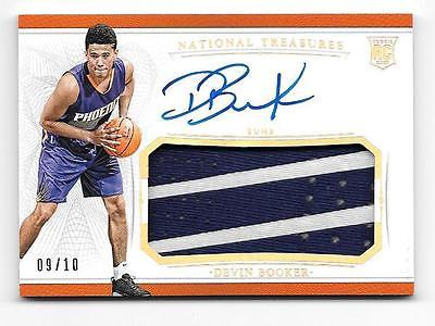 910 DEVIN BOOKER 20152016 TREASURES AUTOGRAPH PATCH RPA GOLD SP 2CLRS
