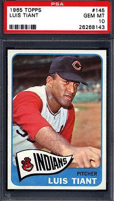 1965 Topps 145 Luis Tiant Rookie Indians PSA 10 pop 5
