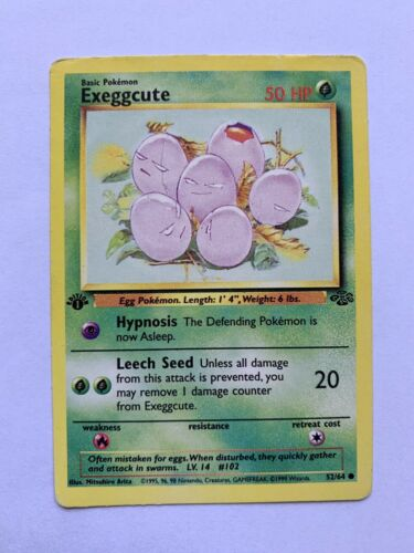 1st Edition Exeggcute Error Pokemon Card
