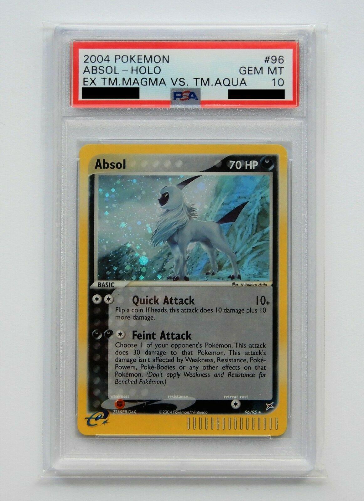 2004 Pokemon Ex Team Magma vs Aqua 9695 ABSOL Holo Secret Rare PSA 10 GEM MINT