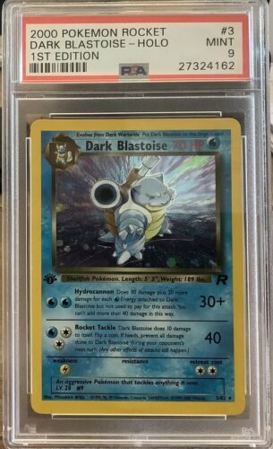 2000 Pokemon Team Rocket  No3 Dark Blastoise 1st Edition  PSA9 very Rare