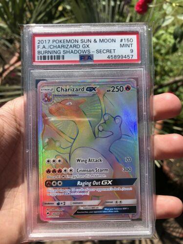 Pokemon Charizard Gx Hyper Rare Burning Shadows  PSA 9 MINT