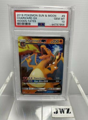 Pokemon Hidden fates Card Charizard GX 968 PSA 10