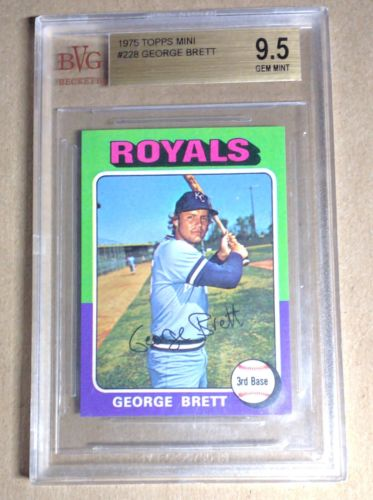 1975 Topps Mini George Brett BGS 95 Rookie Card 228 Only 3 None Higher