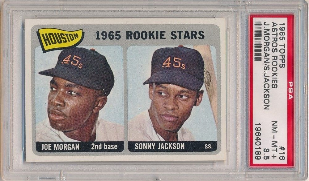 JOE MORGAN 1965 TOPPS 16 ASTROS ROOKIES RC ROOKIE CARD PSA 85 NMMT