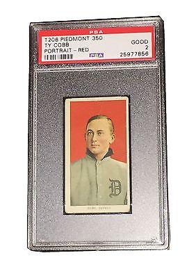 MLB TY COBB 19091911 T206 PIEDMONT RED PORTRAIT TRADING CARD PSA DNA GOOD 2