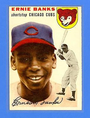 ERNIE BANKS 1954 TOPPS 94  RC  CHICAGO CUBS  SPECTACULAR SHARP