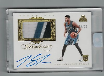 KARLANTHONY TOWNS FLAWLESS 1516 PATCH AUTO 4 CL  25