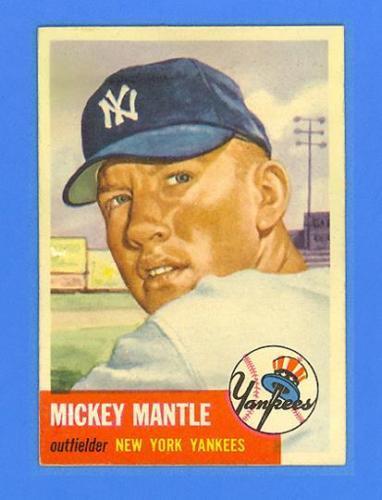 MICKEY MANTLE 1953 TOPPS 82  NEW YORK YANKEES  PHENOMENAL SHARP