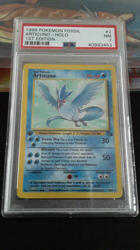Articuno 1999 Fossil 1st Edition Holo Holographic Pokemon Card 262 Graded PSA 7