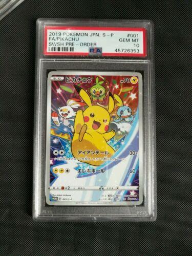 PSA 10 GEM Mint Pokemon Card Japanese 001SP Pikachu Sword and Shield Promo