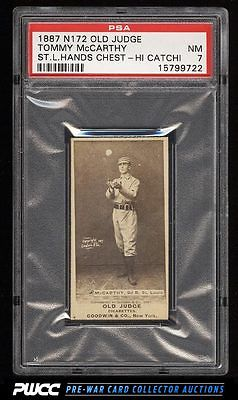 1887 N172 Old Judge Tommy McCarthy HANDS CHEST HIGH ST LOUIS PSA 7 NM PWCC