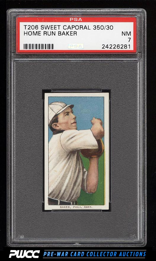 190911 T206 Home Run Baker PSA 7 NRMT PWCC
