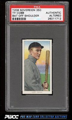 190911 T206 Ty Cobb BAT OFF SHOULDER SOVEREIGN PSA AUTH Altered PWCC