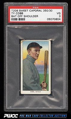 190911 T206 Ty Cobb BAT OFF SHOULDER PSA 3 VG PWCC